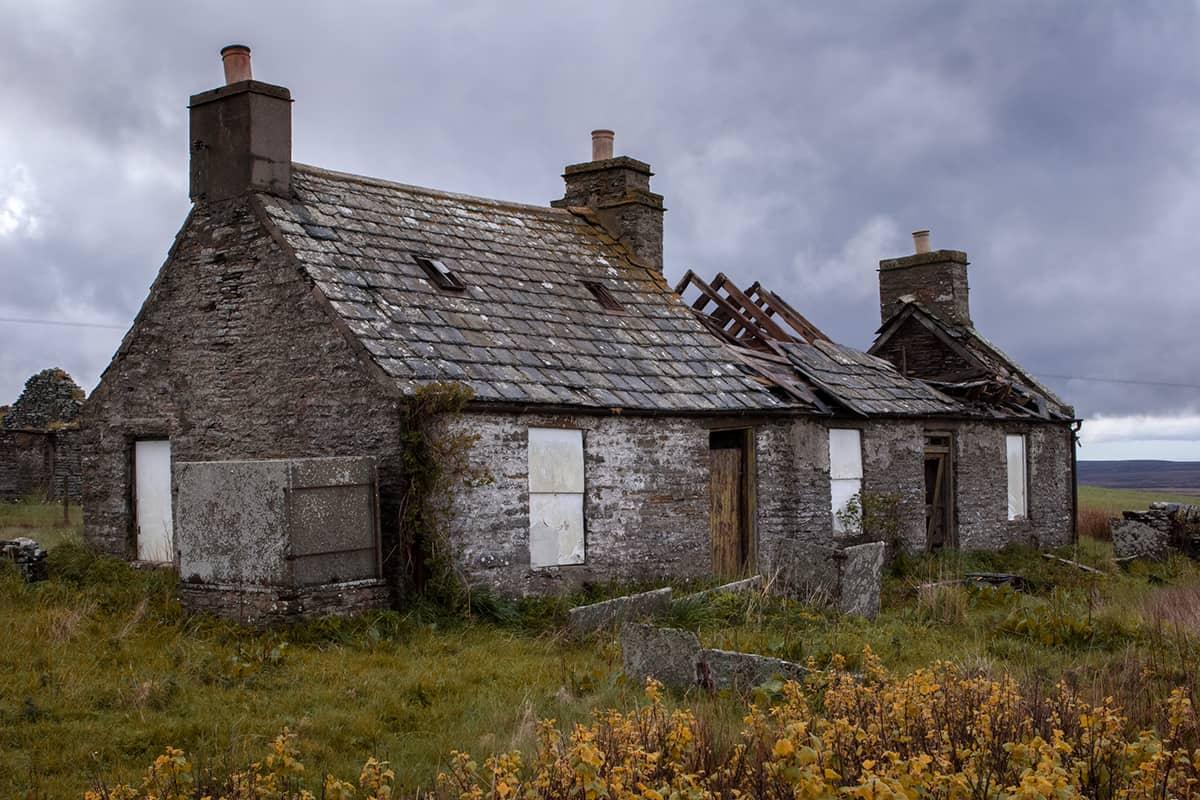 Verlassenes Haus vor bei John o'Groats