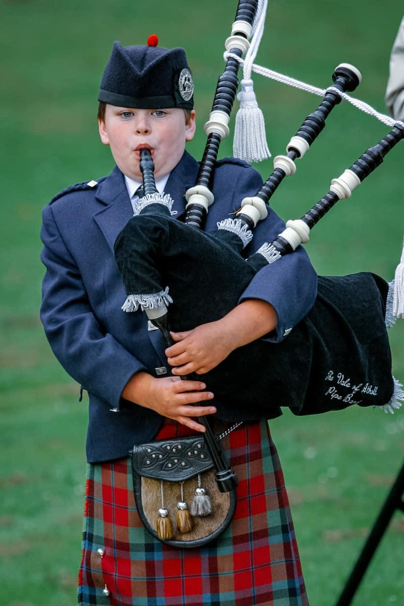 Vale Atholl Pipe Band auf einer Highland Night