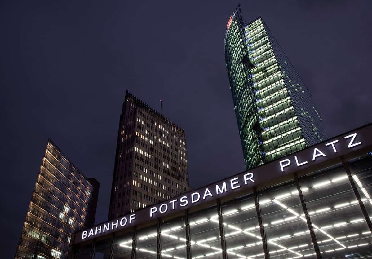 Der Potsdamer Platz am Abend