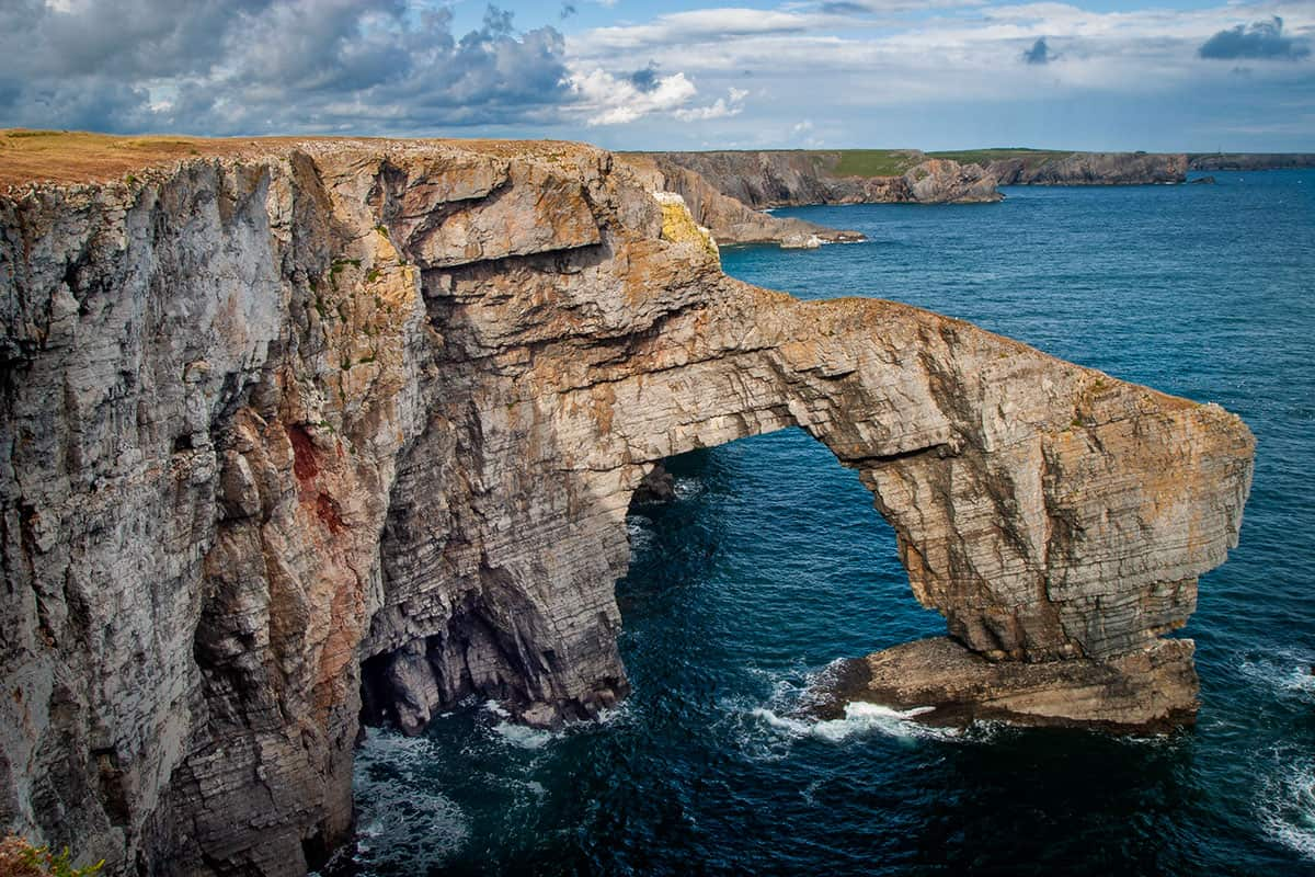 Greenbridge an der Südküste von Pembrokeshire